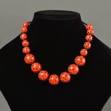 large red bead necklace images Best red wooden beads necklace products on wanelo jpg
