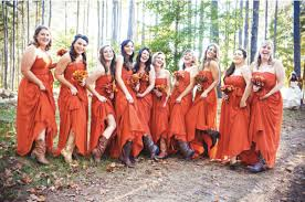 20 eye catching orange bridesmaid dress ideas for fall weddings
