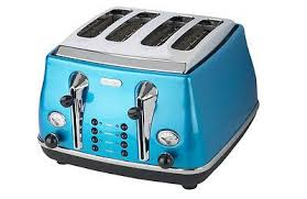 Toasters Delonghi Delonghi Cto4003b Icona 4 Slice Blue Toaster New Kitchenware