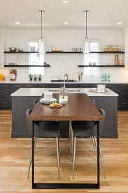 t shaped kitchen island gray kitchen island with perpendicular dining table