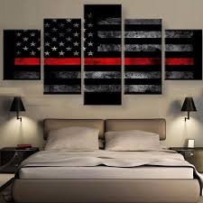 American Flag Tapestry Wall Hanging 5 Panels Canvas Prints American Flag Multi Panels Wall Art Wall