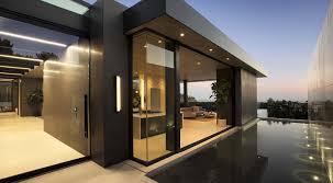 sleek and modern hillside home above sunset plaza la