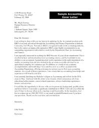 bunch ideas of internship cover letter examples accounting cover
