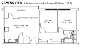 floor plans of apartments iu rps campus view apartments