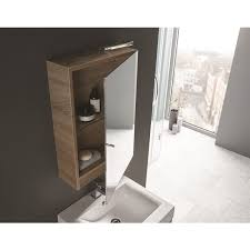 Elation Bathroom Furniture April Elation Eko Mirror Cabinet 450 X 660 Bardolino Oak Ideal