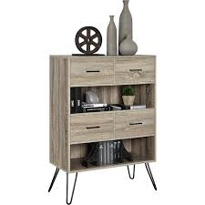 Landon Desk With Hutch by Amazon Com Ameriwood Home Landon Bookcase With Bins Weathered