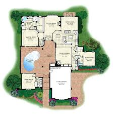 luxury home plans with pools courtyard modern house plans home plans with courtyard luxury