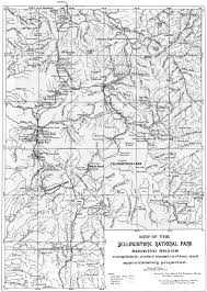 Map Of Yellowstone National Park Enchanted Enclosure The Army Engineers And Yellowstone National