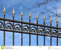 decorative metal fence with ornaments stock image image 49660457