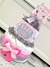 boy or neutral owl diaper cake baby by polkadotsandzigzags