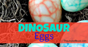 Decorating Easter Eggs Dinosaur by Tie Dye Easter Eggs