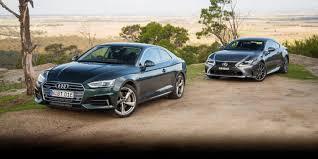 lexus rc models comparison 2017 audi a5 tfsi quattro v lexus rc200t comparison photos 1 of 81