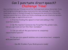 can i punctuate direct speech ppt video online download
