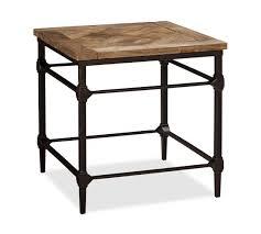rustic wood side table wood and metal bedside table wehanghere