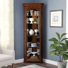 wayfair corner curio cabinet astoria grand kenric lighted corner curio cabinet reviews wayfair