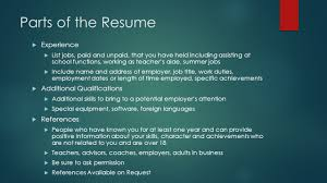 How To List Summer Jobs On Resume by Chapter 3 Getting The Job Ppt Download