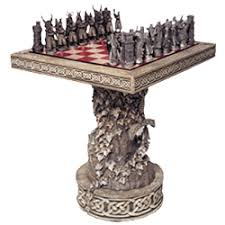 fantasy chess set arthurian chess set and pieces from dark knight armoury