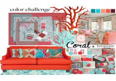 delightful red and turquoise decor a home decor collage from april