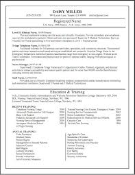 Examples Of College Application Resumes by Resume For Nurse Resume For Your Job Application
