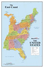 map of east coast states eastern united states map with cities my