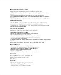 Resume Format Sales And Marketing Sample Marketing Resume Template 6 Free Documents Download In