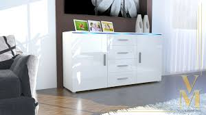 Small Kitchen Buffet Cabinet by White Gloss Sideboard Stunning Chelsea Living Door Glazed