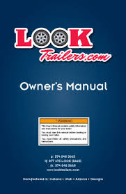 trailer owner u0027s manual look trailers