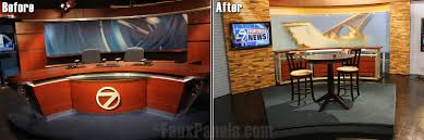 design tv show tv newsroom design goes faux creative faux panels