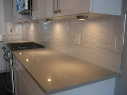 Mosaic Kitchen Tile Backsplash Kitchen White Glass Tile Backsplash Countertop With Dark Wood