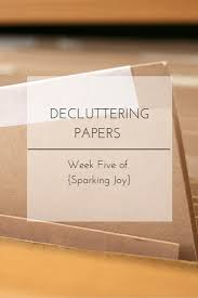 decluttering and organizing all things paper week five of