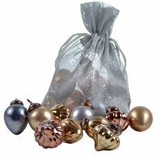 copper pewter mix of vintage mini glass baubles pipii