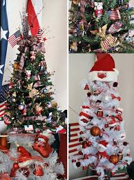 creative christmas decor with bunting and patriotic christmas displays