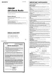 sony clock radio manual sony icf cd815 user manual