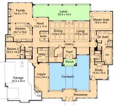 style home plans with courtyard creative design house plans with courtyard style home