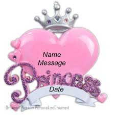 buy princess ornament personalized ornament from a large