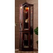 curio cabinet lightedr curio cabinet oak black cabinets cherry