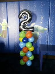number balloons delivered balloon column with number 2 megaloon on top great for kids