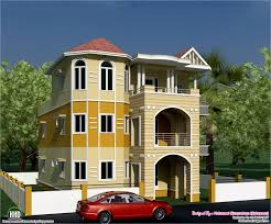 Eco Friendly House Plans Eco Friendly Houses 3 Storey South Indian House Design