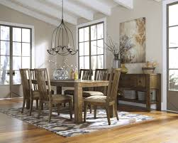 8 pc dining room set ashley birnalla rustic 8 pc dining table side chairs and server set