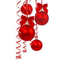 christmas tree ball ornaments invitation template