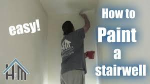 Do You Paint Ceiling Or Walls First by How To Paint Any Stairwell Staircase Easy Home Mender Youtube