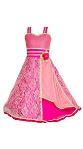 my lil princess baby girls birthday party wear frock dress pink