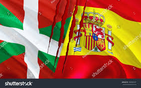 Picture Of Spain Flag Basque Spain Flags Scar Concept Waving Stock Illustration