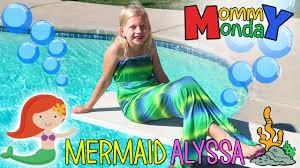 mermaid swimming fail u0026 halloween costumes mommy monday youtube