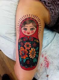 russian matryoshka doll tattoo on u0027s sleeve