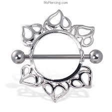 nipple rings images Leaf nipple ring 14 ga at jpg