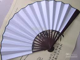 How To Make Wedding Fan Programs Pure White Christmas Diy Program Hand Held Fans Hand Painting