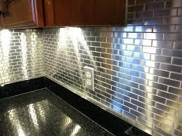 metal backsplash for kitchen metal backsplash tiles for kitchens kitchen popular metal tile the