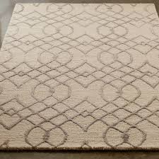 vintage trellis pattern rug shades of light