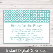 Card Inserts For Invitations Baby Shower Invitation Insert Books For Baby Baby Shower